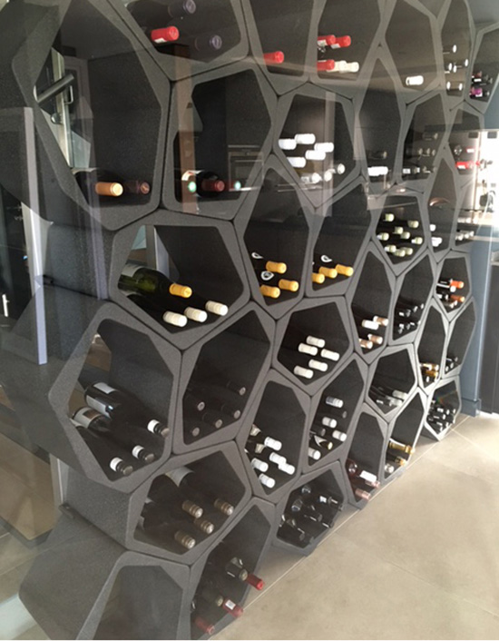 wine rack on wall wall mounted flexible interior modular shelving partition Movisi Build