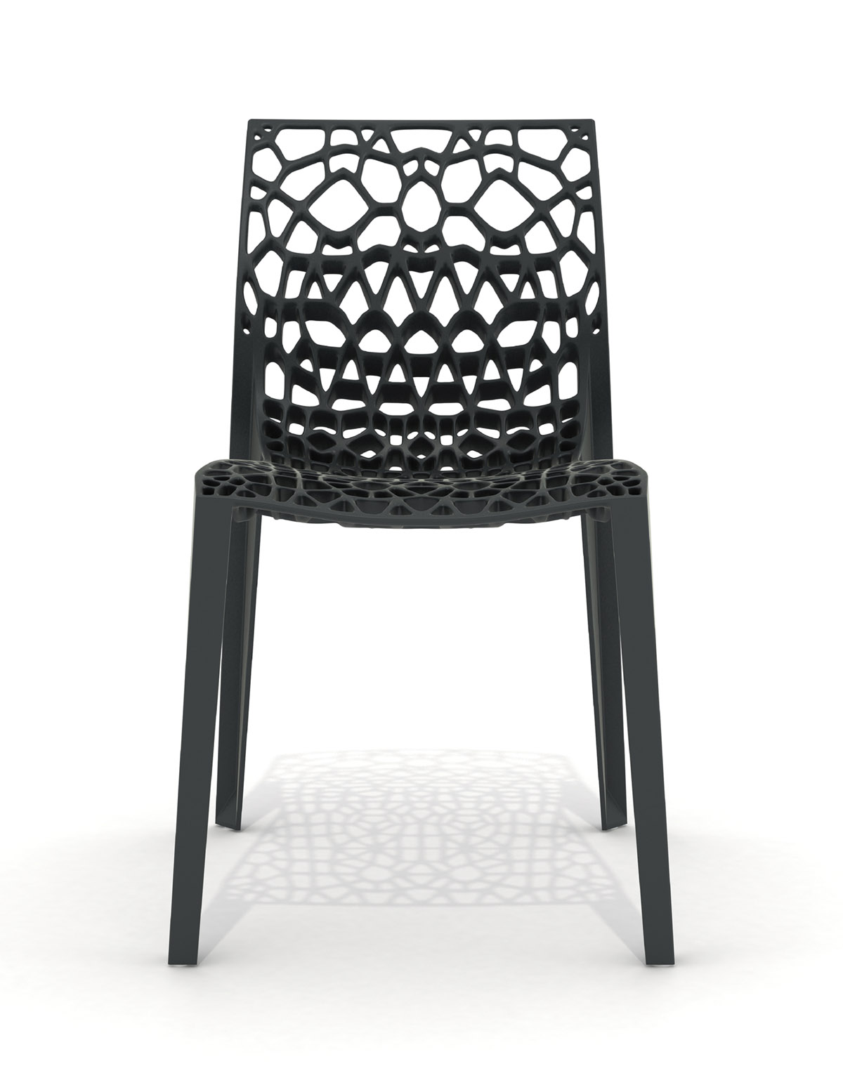 Coral chair stackable black organic designer chair designer Movisi ton haas