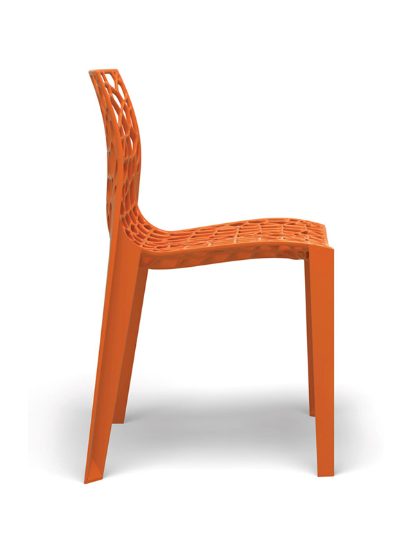 Coral chair stackable orange organic designer chair designer Movisi ton haas