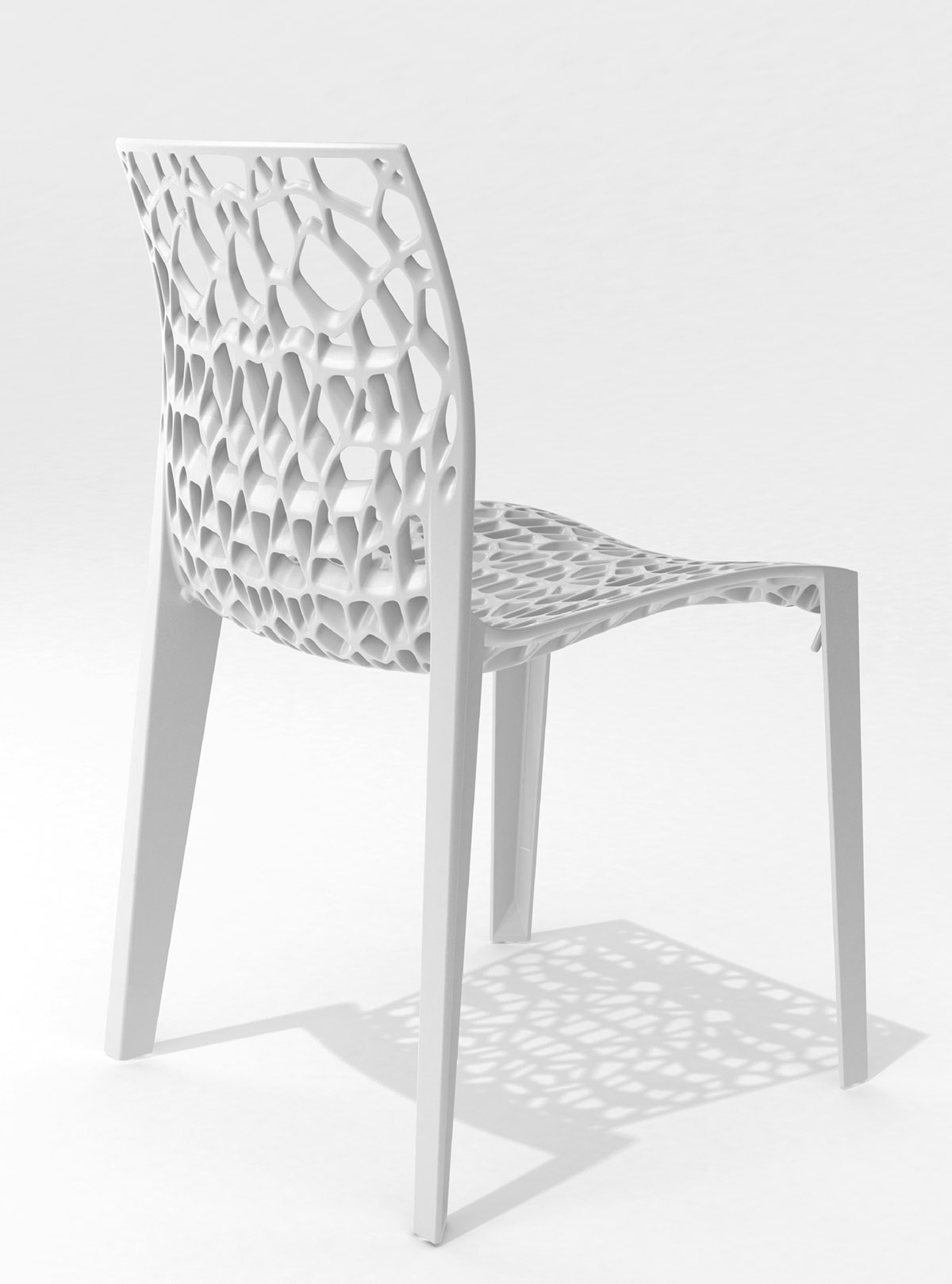 Coral chair stackable white designer chair designer Movisi ton haas