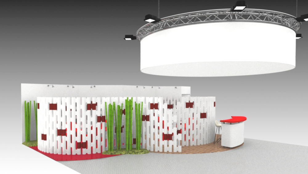 designing a booth for a trade show custom walls movisi