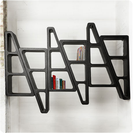Make Shift shelving black
