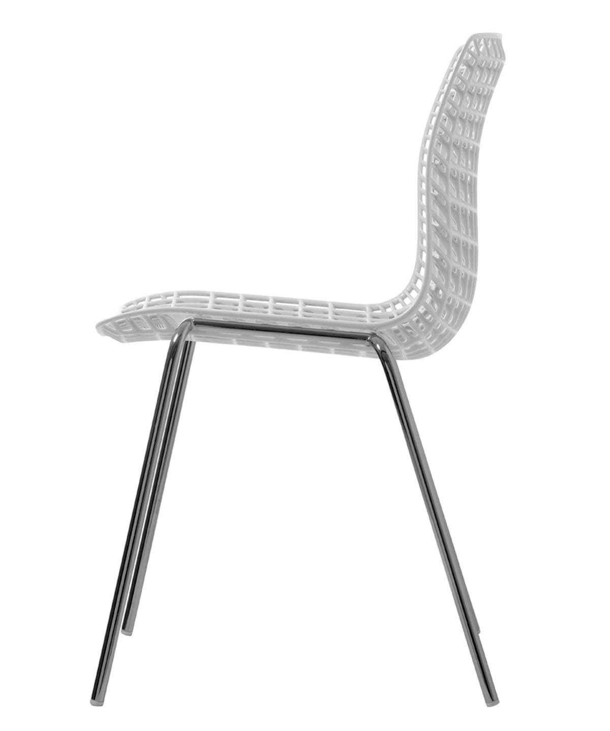 Moire white visitor office chair stackable Movisi modulare furniture ton haas