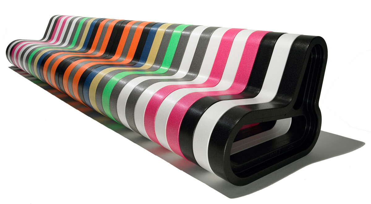 colourful bench modular extend furniture for events Movisi Q COUCH