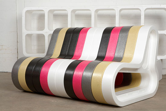 colourful office bench modular extend furniture for events Movisi 2 Q COUCH