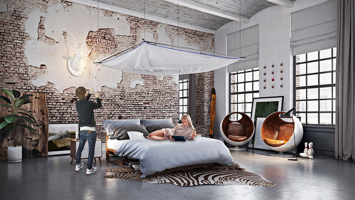 Skyroom Moskito Movisi big mosquito net baldachin loft furniture 1