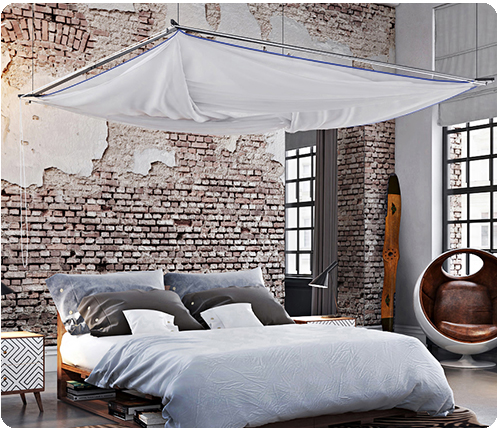 3a Movisi Skyroom Moskito bedroom loft up blue seam binding 500px