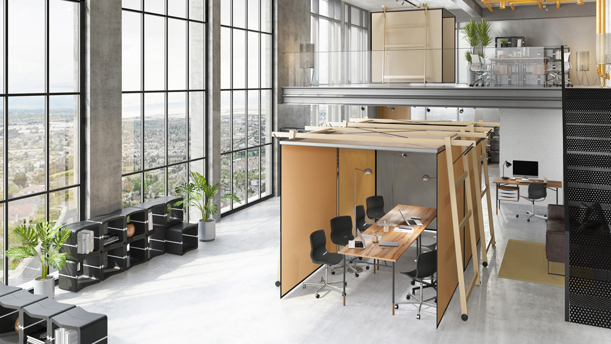 Skyroom Office Movisi office flexible mobile workspace meeting pod 1