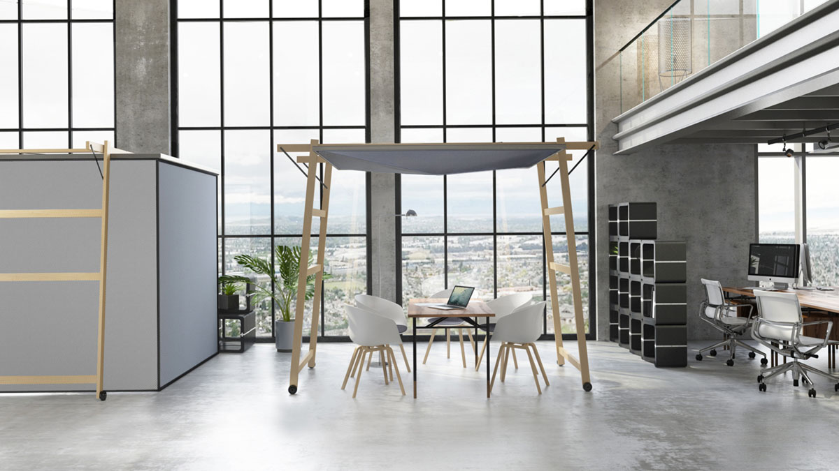 Skyroom Office Movisi office flexible workspace meeting pod 4a