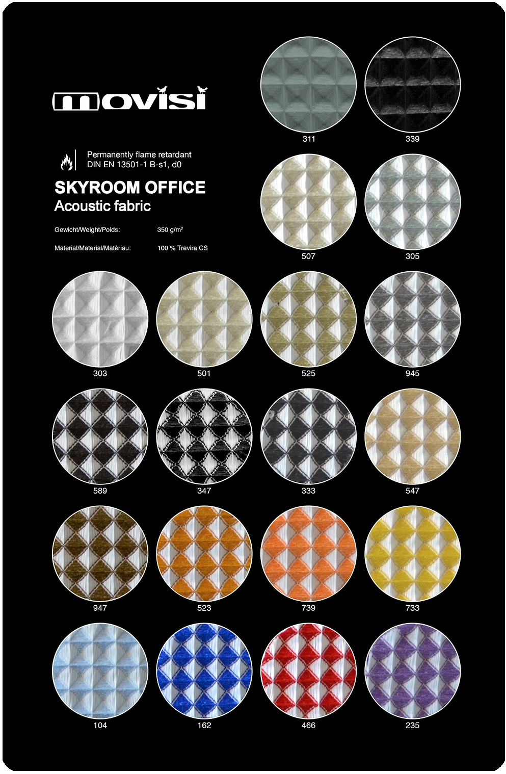 Skyroom Office Movisi fabric colours w