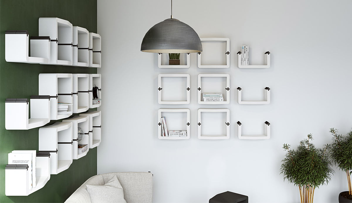 Comment Fixer Etagere Cube Murale u-cube - movisi
