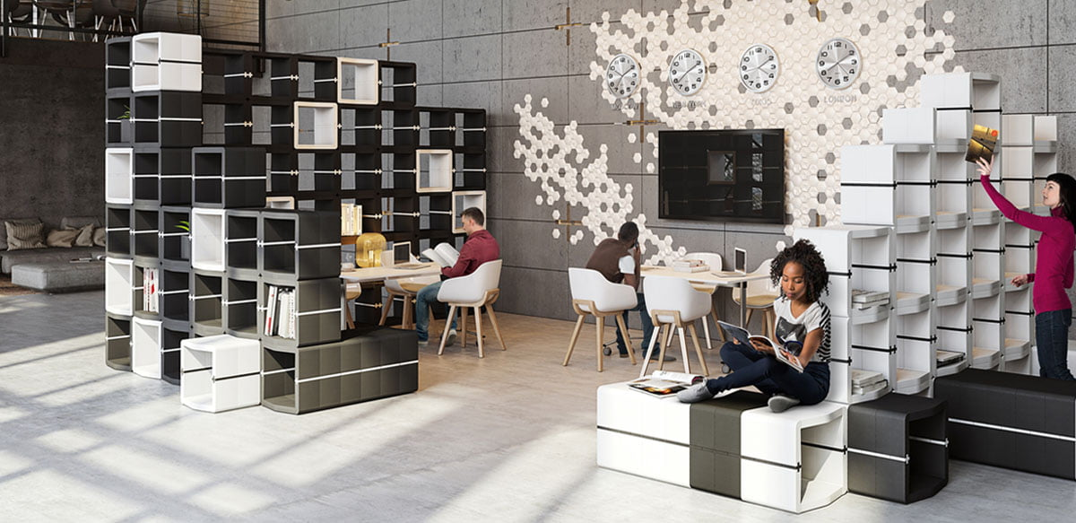 Movisi modular office furniture cubes