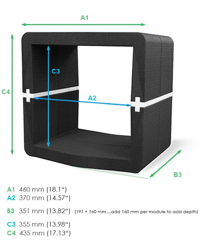 U CUBE modular cube furniture dimensions Movisi w