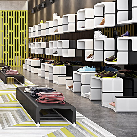 modular furniture for shops and retail stores shelves movisi cube