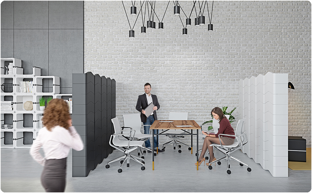 U CUBE modular parititon office meeting room movisi b
