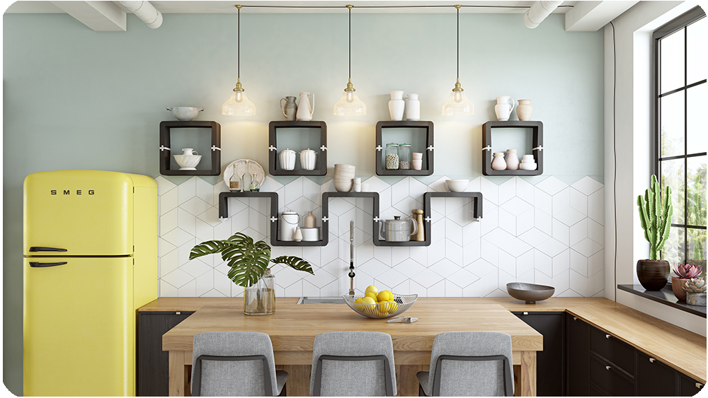 U CUBE wall shelvingkitchen movisi 1
